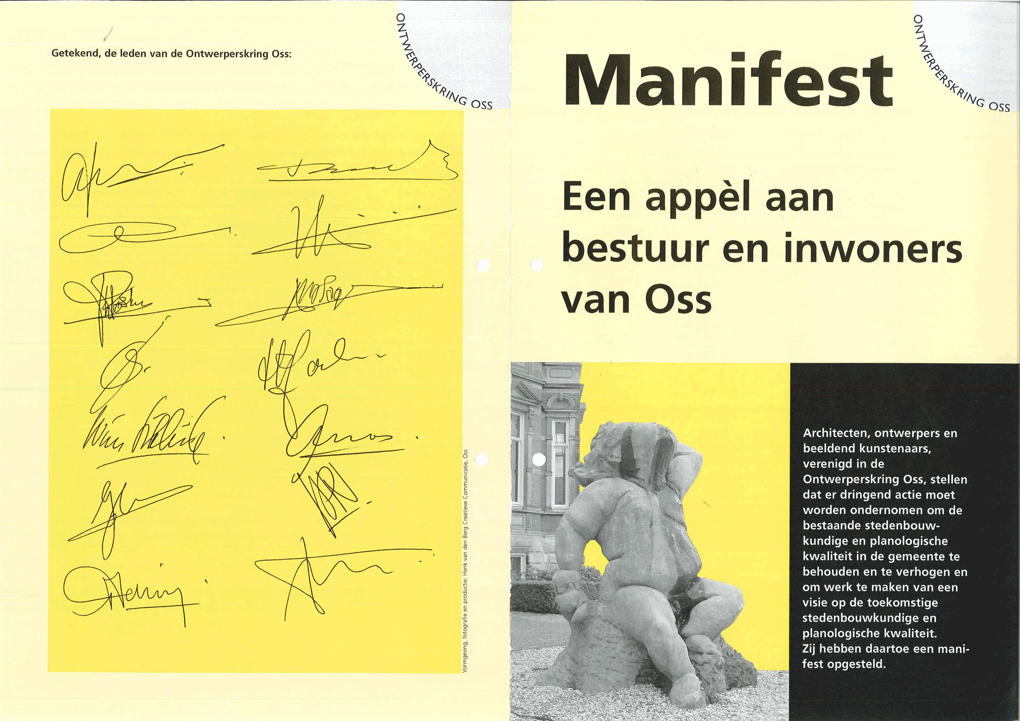 Manifest 2002 OntwerpersKring Oss